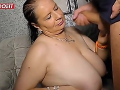 German Aunt gets creampied..